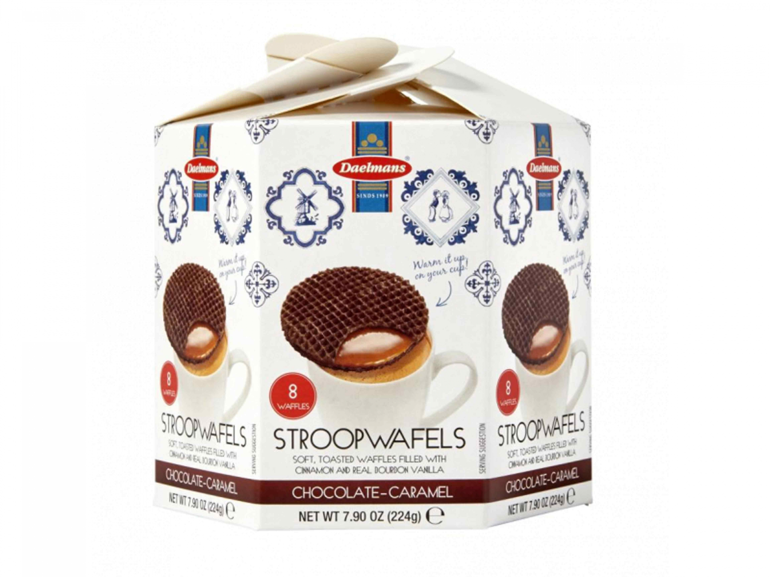 : Daelmans chocolate stroopwafels in hexa box