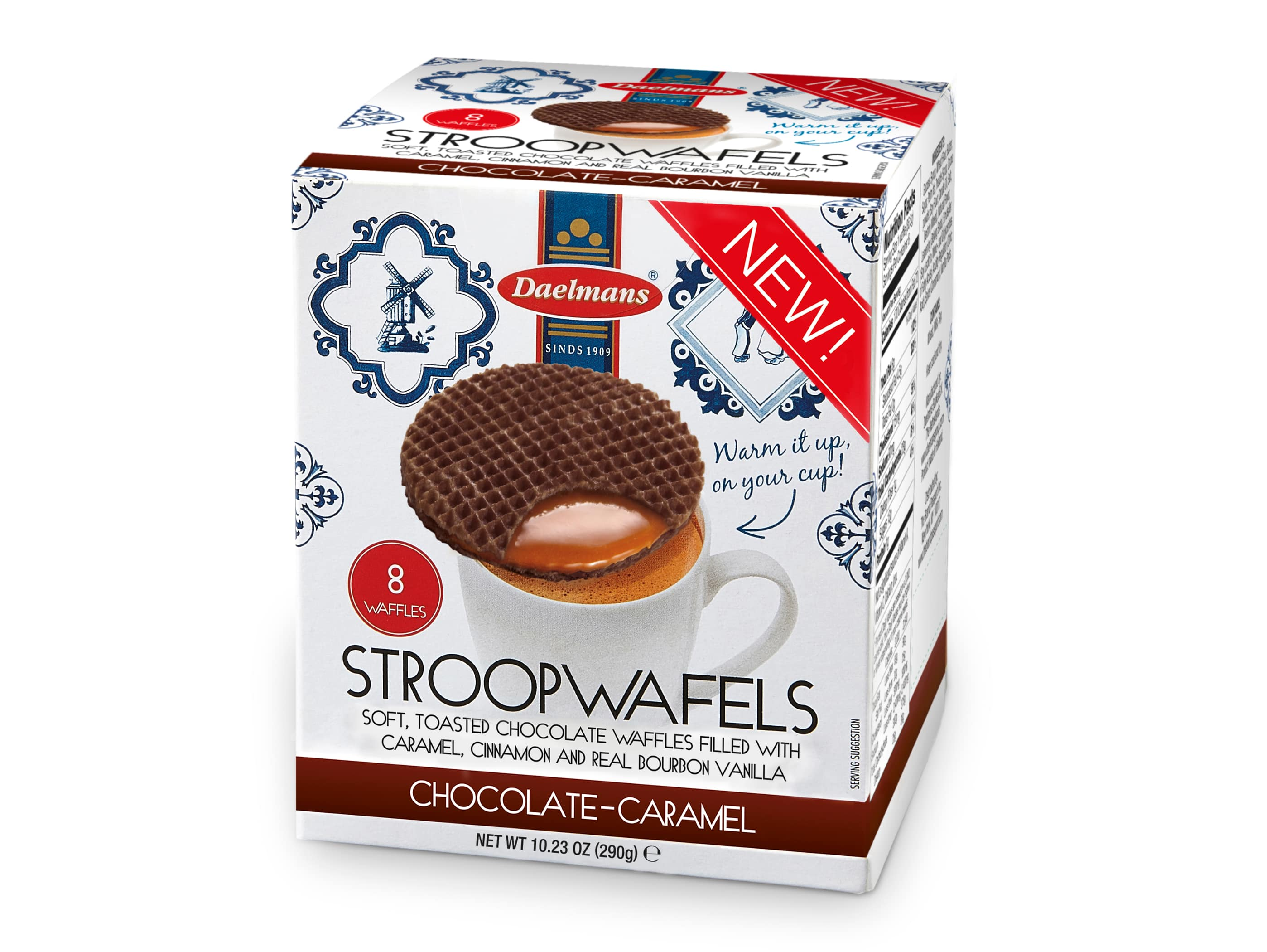 chocolate stroopwafel in cube