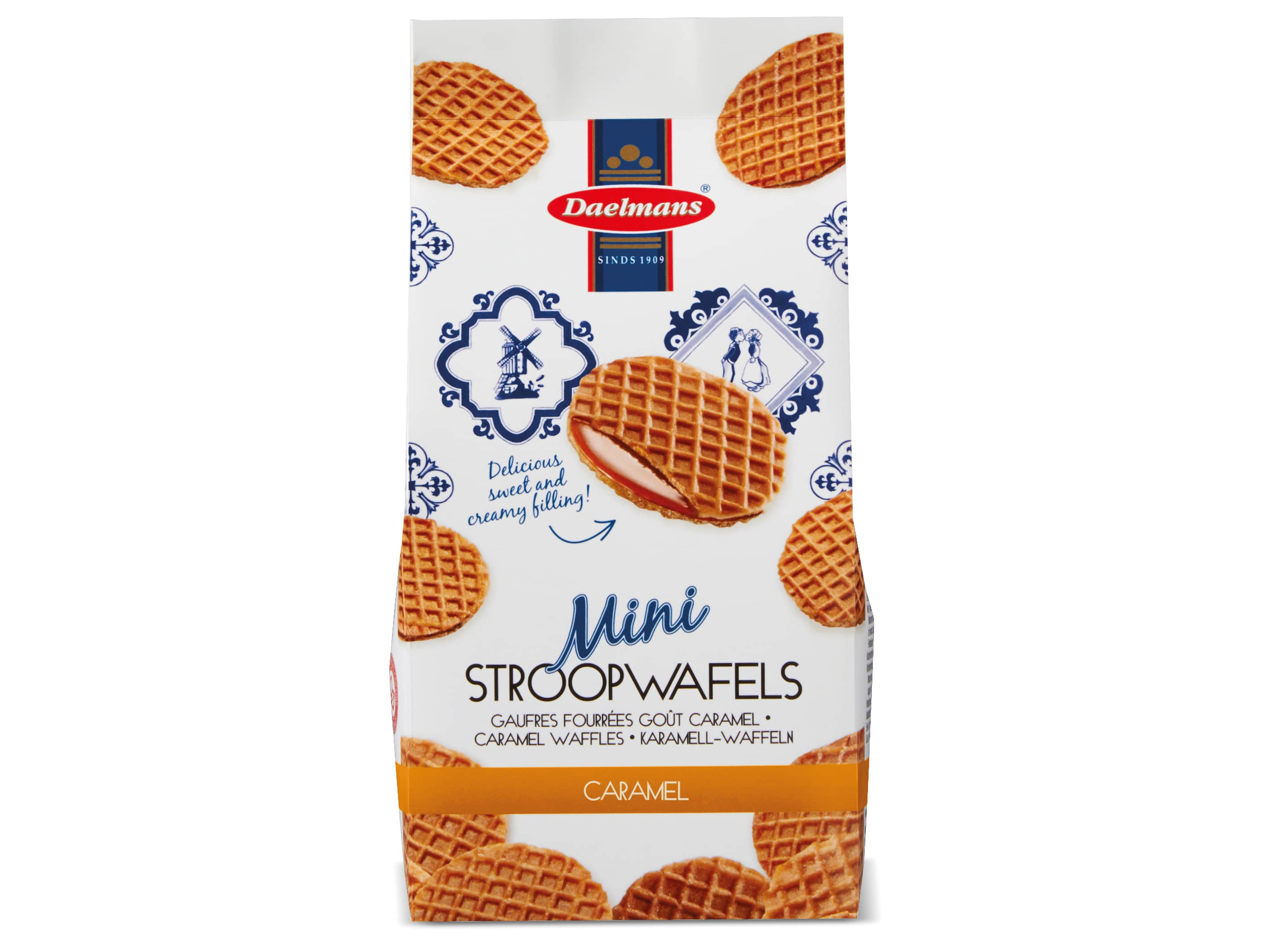 mini stroopwafels in zak