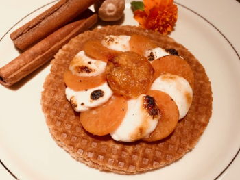 Stroopwafel and Sweet Potato Brulee