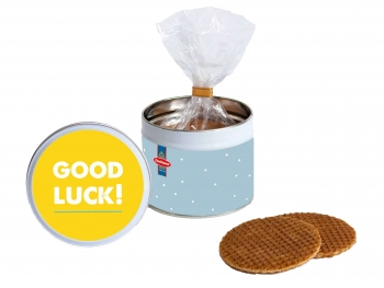 Stroopwafel gift tin Good Luck