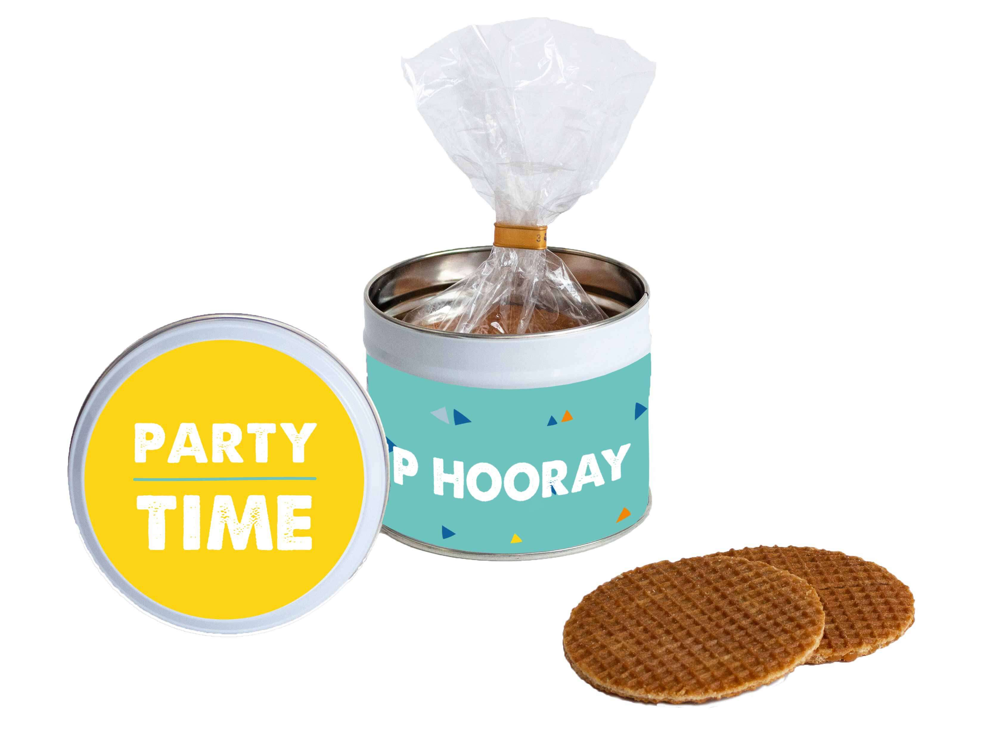 Stroopwafel gift tin Party Time