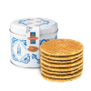 Delft blue tin with stroopwafels