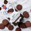 Mini chocolate stroopwafels in cello bag