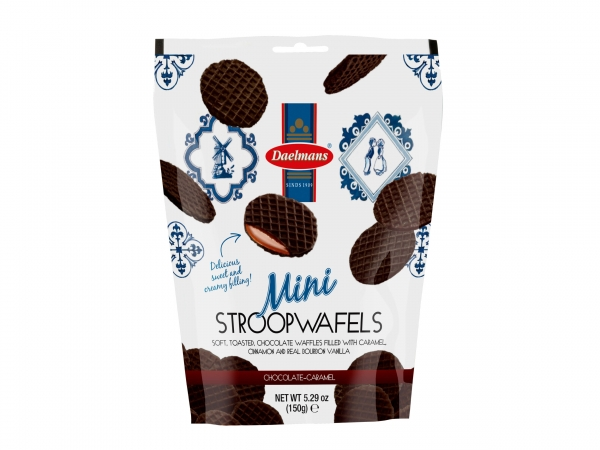 Daelmans Mini Chocolate Stroopwafels 5.29 oz.