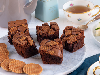 Stroopwafel chocolate brownies