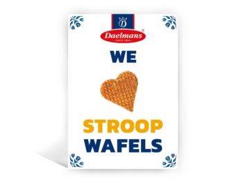 We love stroopwafels postcard