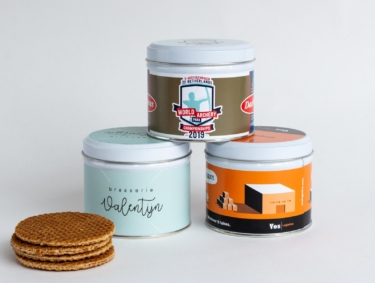 Daelmans customized Stroopwafel tins