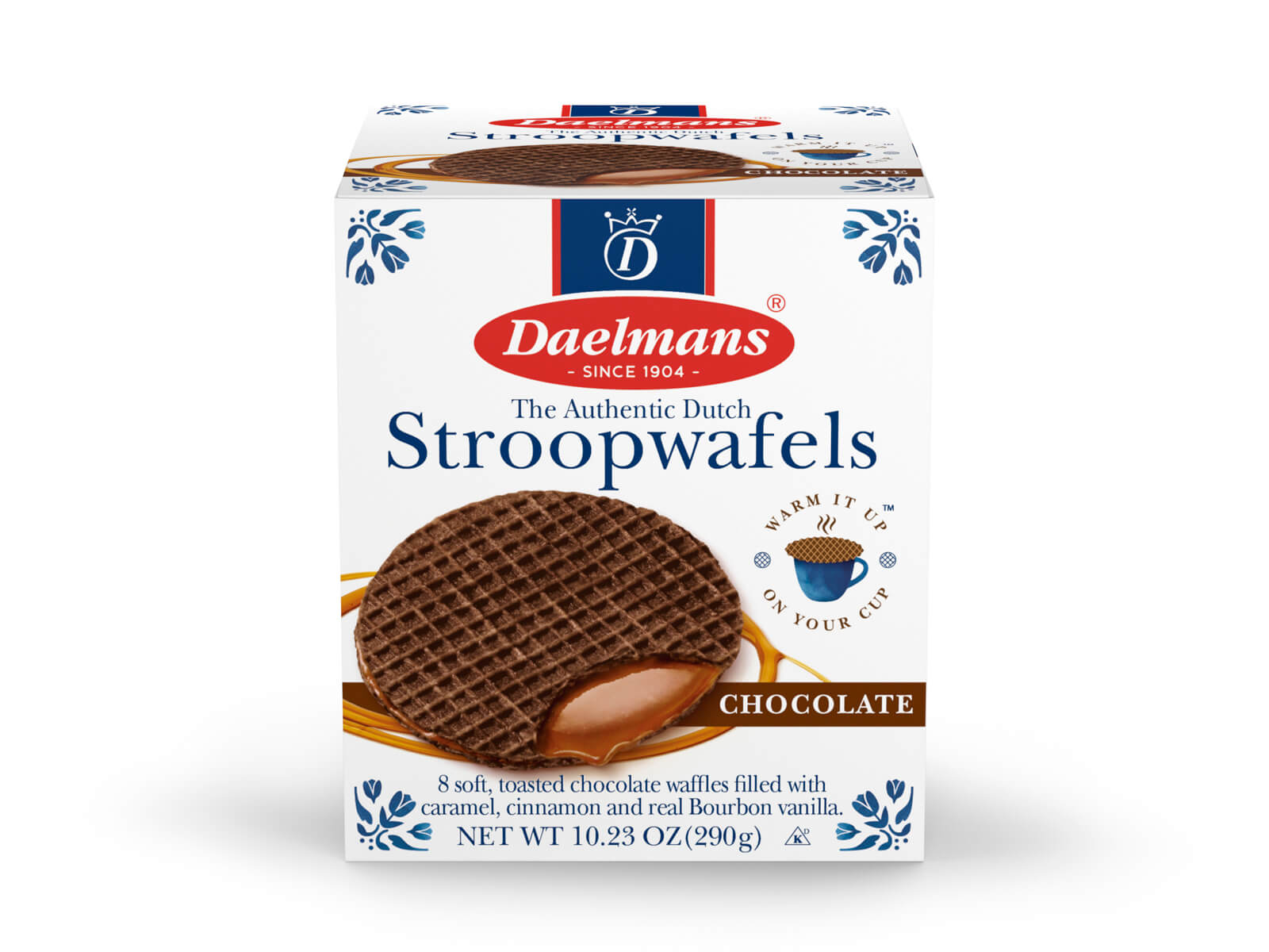 Chocolate Stroopwafels from Daelmans in cube box