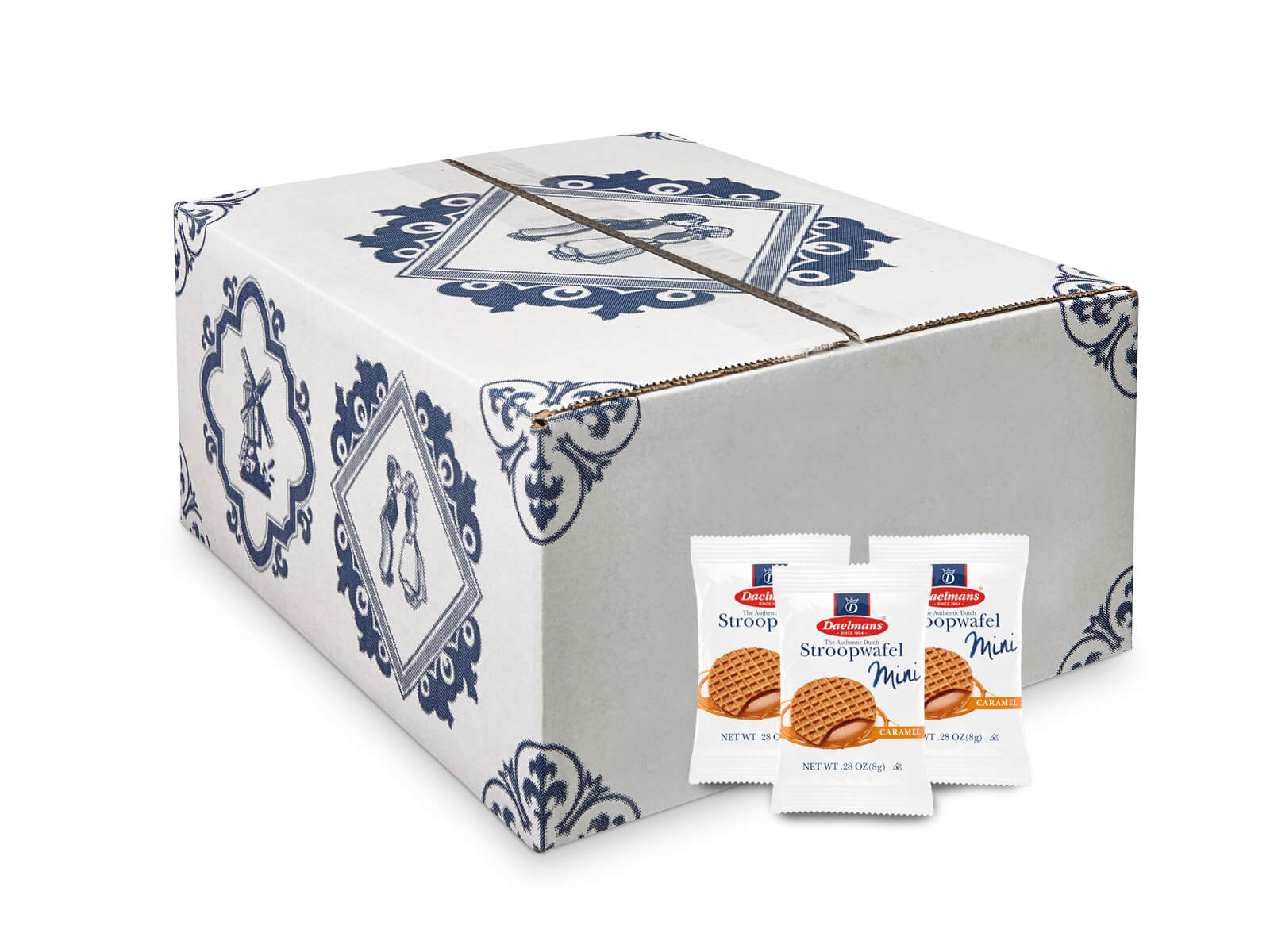 Mini caramel Stroopwafels from Daelmans single wrapped
