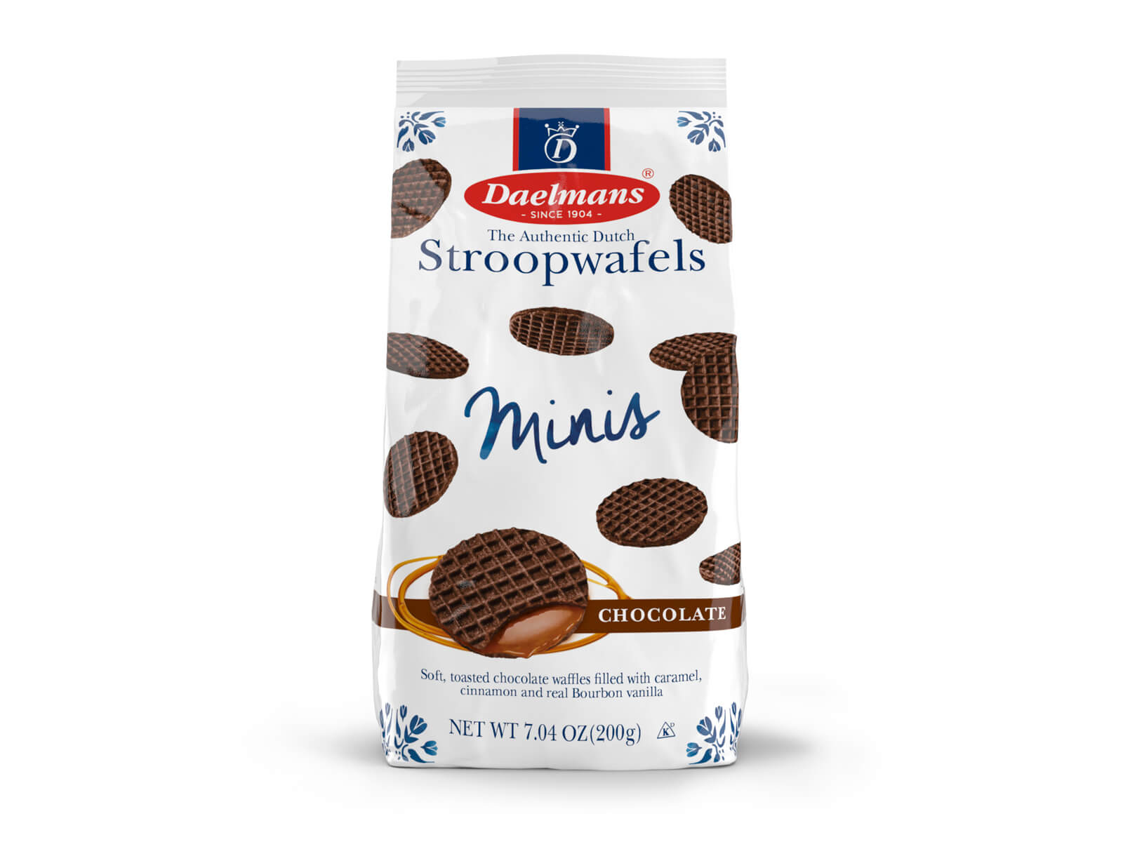 Mini chocolate Stroopwafels from Daelmans in cello bag