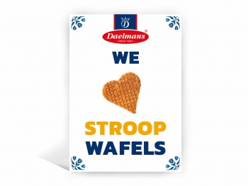 We Love Stroopwafels Grußkarte