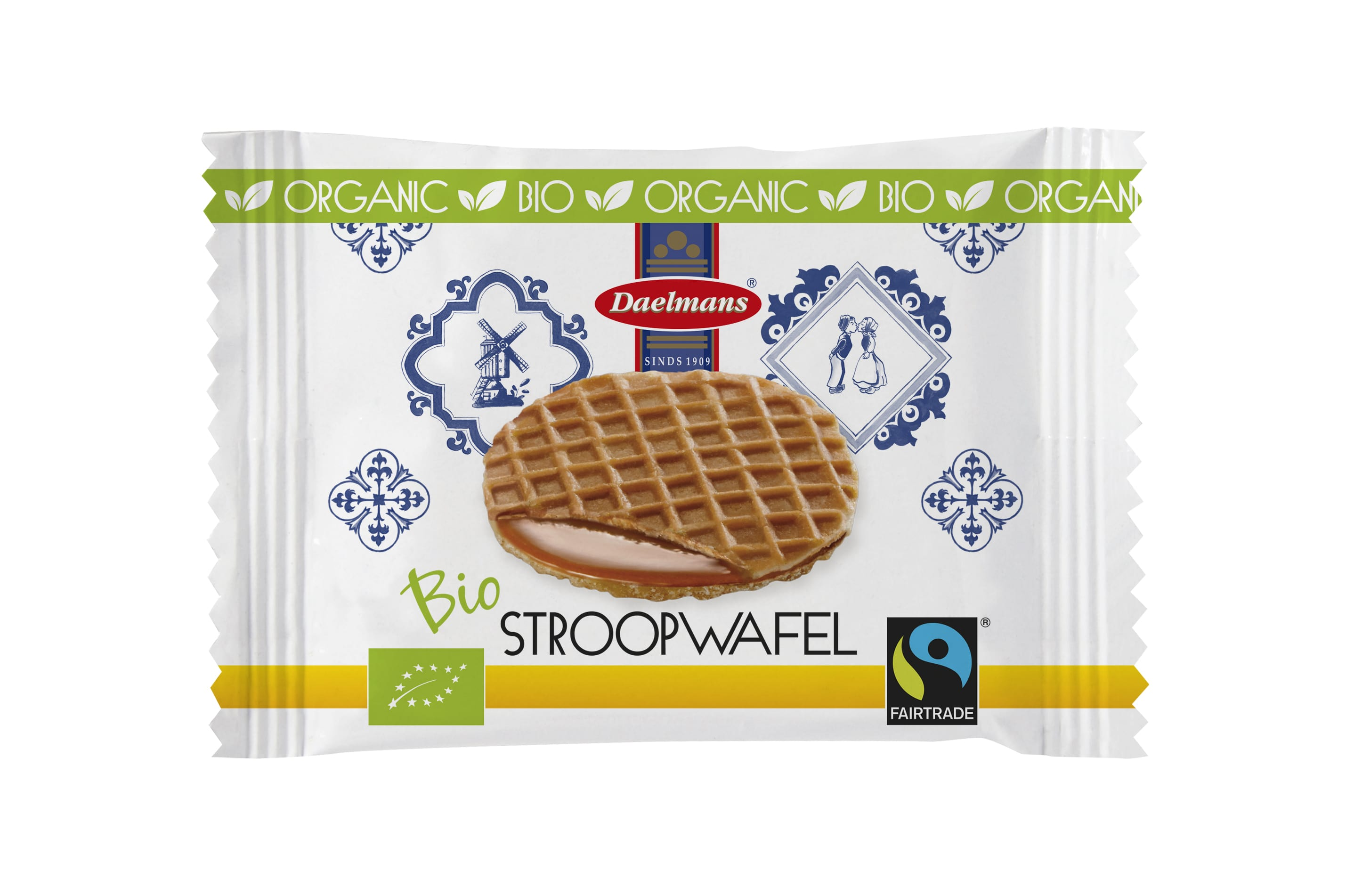 3D DAE Bio Fairtrade 2 mock up stroopwafel caramel mini front-min