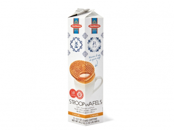 Karamell Stroopwafels in Hexa-tower