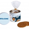 Stroopwafel gift tin Welcome